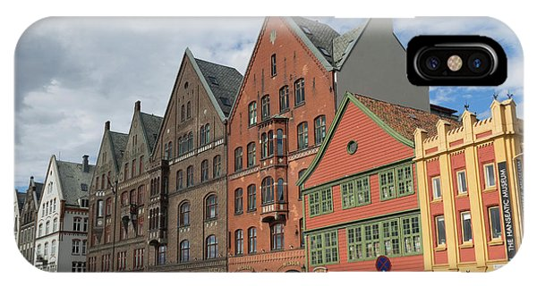 Small Business iPhone Case - View Of Bryggen With Hanseatic Museum by Panoramic Images