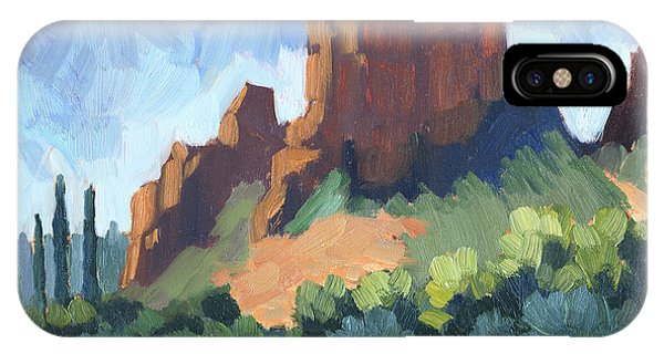 Cathedral Rock iPhone Case - View Of Cathedral Rock Sedona by Diane McClary