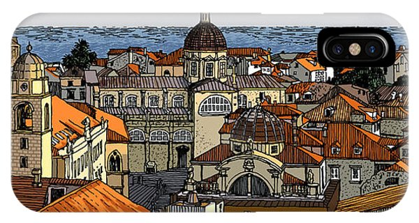 View Of Dubrovnik IPhone Case