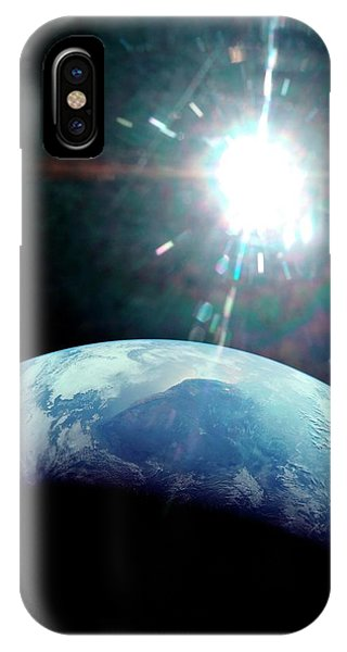 Spaceflight iPhone Case - View Of Earth From Apollo 11 Spacecraft by Nasa/detlev Van Ravenswaay
