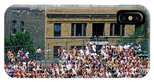View Of Full Bleachers, Full Of Fans IPhone Case