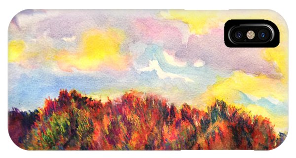 Watercolor iPhone Case - View Of Goat Island by Anna Porter