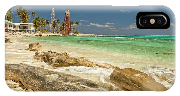 Belize iPhone Case - View Of Lighthouse On Half Moon Caye by Michele Benoy Westmorland