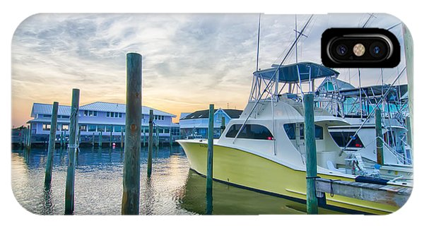 View Of Sportfishing Boats At Marina IPhone Case