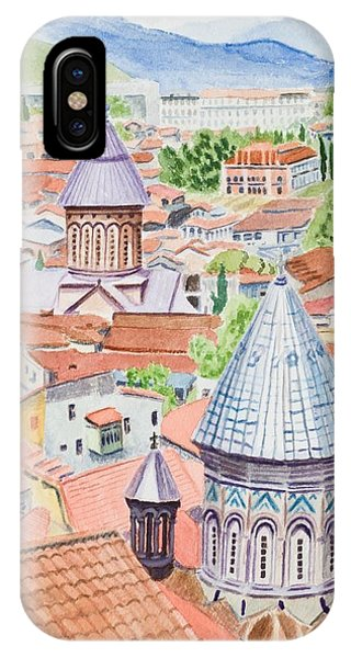 View Of Tbilisi-republic Of Georgia IPhone Case
