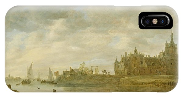 Castle iPhone X / XS Case - View Of The Castle Of Wijk At Duurstede by Jan van Goyen