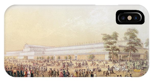 Palace iPhone Case - View Of The Crystal Palace by George Baxter