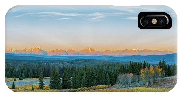 View Of The Grand Teton Mountains Phone Case by Richard and Susan Day