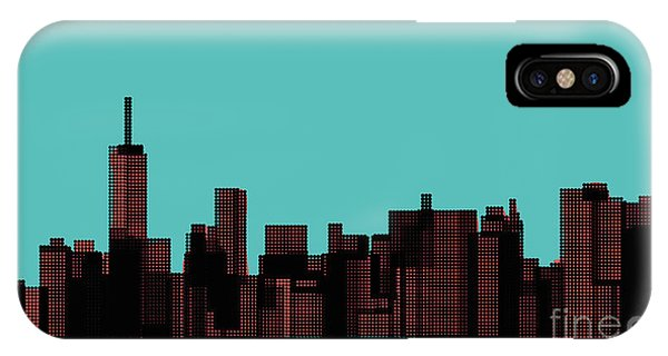 Ripples iPhone Case - View Of The Manhattan In The Pop Art by Finlandi