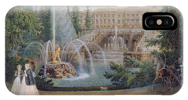 View Of The Marly Cascade From The Lower Garden Of The Peterhof Palace IPhone Case