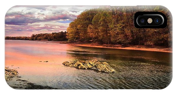 View Of The Salmon River IPhone Case