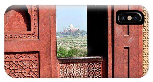 Roxbury iPhone Case - View Of The Taj Mahal by Steve Roxbury