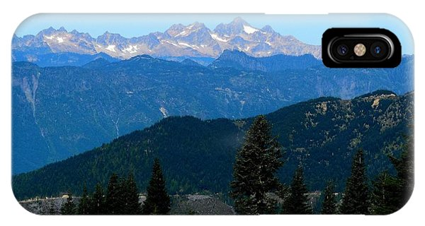 View Of Twin Sisters From Sauk Mountain IPhone Case