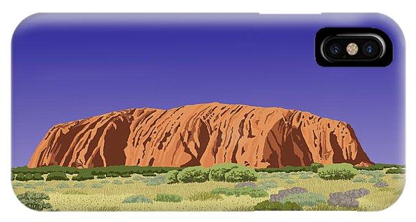 View Of Uluru / Ayers Rock IPhone Case
