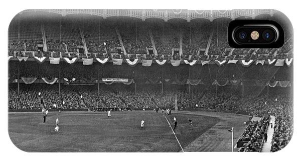 Yankee Stadium iPhone Case - View Of Yankee Stadium by Underwood Archives