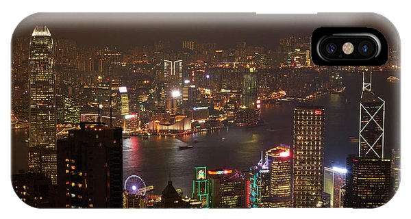 Condo iPhone Case - View Over Kowloon, Victoria Harbor by David Wall