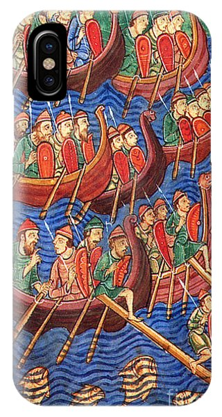 Navigation iPhone Case - Vikings Invade England 9th Century by Photo Researchers