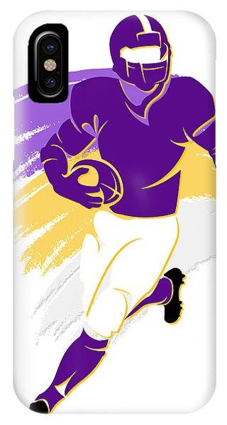 Purple iPhone Case - Vikings Shadow Player2 by Joe Hamilton