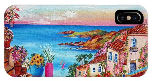 Village Along The Amalfi Coast IPhone Case