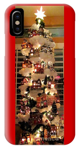 Village Christmas Tree IPhone Case