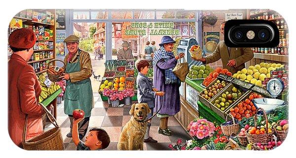 Shelves iPhone Case - Village Greengrocer  by MGL Meiklejohn Graphics Licensing