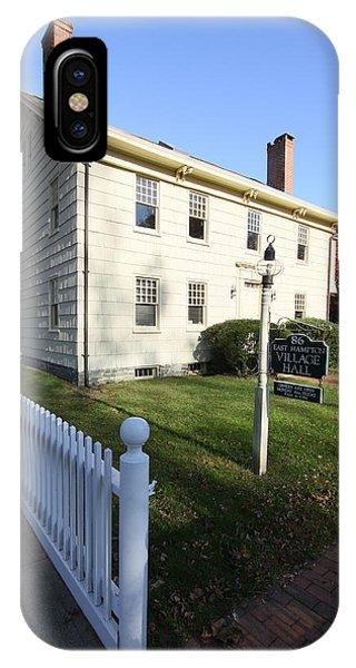 Village Hall East Hampton New York IPhone Case