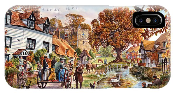 English Countryside iPhone Case - Village In Autumn by MGL Meiklejohn Graphics Licensing