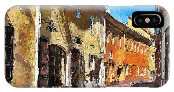 Vilnius Old Town 35 IPhone Case