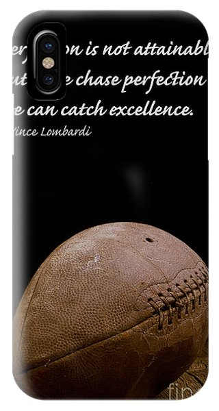 Vince Lombardi On Perfection IPhone Case