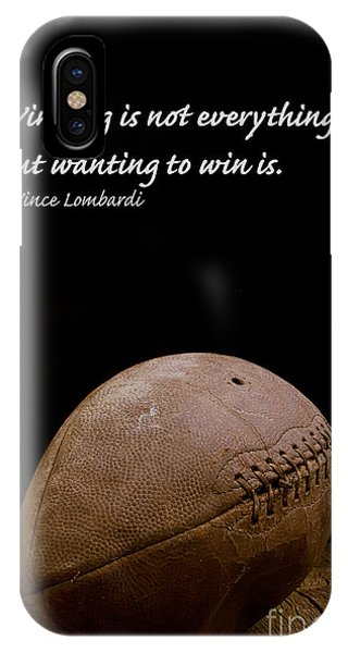Vince Lombardi On Winning IPhone Case