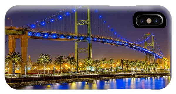 Vincent Thomas Bridge - Nightside IPhone Case