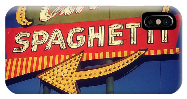 Vinces Spaghetti Sign IPhone Case