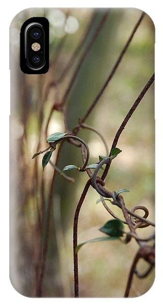 Vine On Rusted Fence IPhone Case