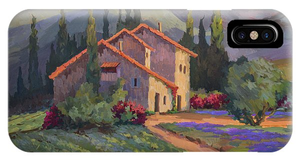 Vineyard And Lavender In Provence IPhone Case