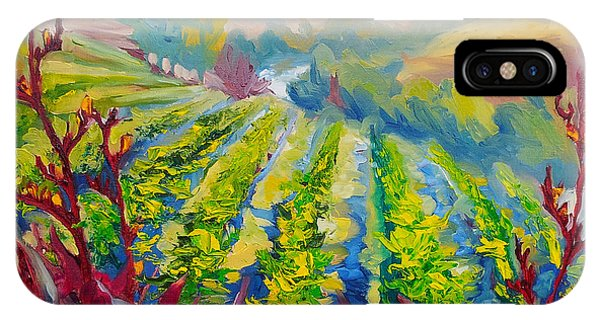 Vineyard Scene Oil Painting IPhone Case