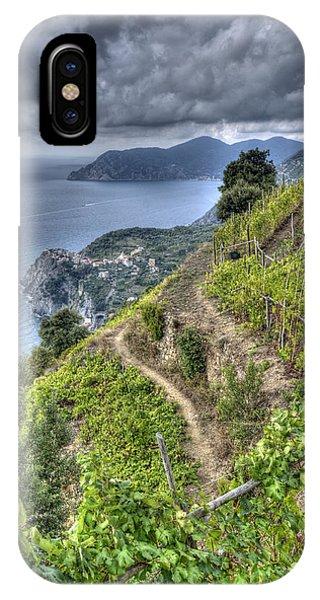 Vineyards Above Cinque Terre 1 IPhone Case