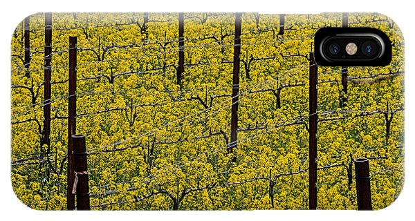 Mustard iPhone Case - Vineyards Full Of Mustard Grass by Garry Gay