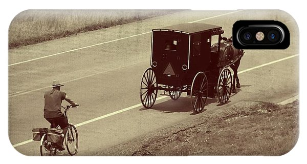 Amish Country iPhone Case - Vintage Amish Buggy And Bicycle by Dan Sproul