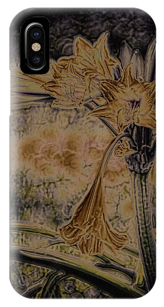 Yellow Trumpet iPhone Case - Vintage Angel Trumpet Art Golden by Lesa Fine