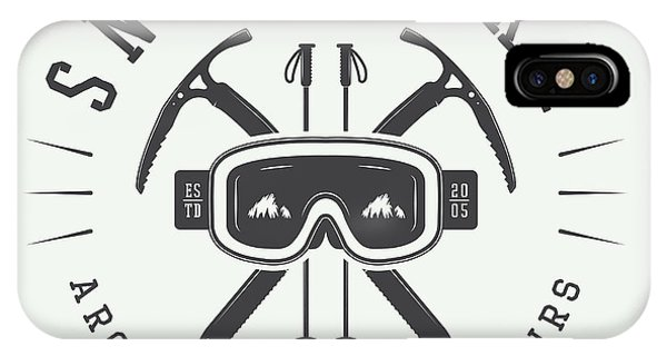 Danger iPhone Case - Vintage Arctic Mountaineering Logo by Akimd