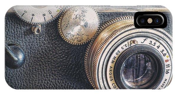 Cameras iPhone Case - Vintage Argus C3 35mm Film Camera by Scott Norris