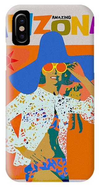 IPhone Case featuring the digital art Vintage Arizona Travel Poster by Joy McKenzie
