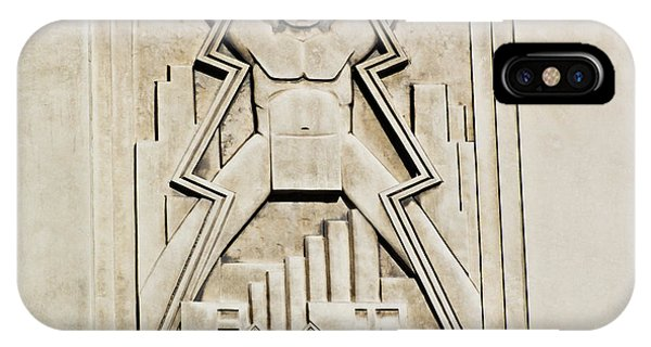Vintage Art Deco Muscular Man   IPhone Case