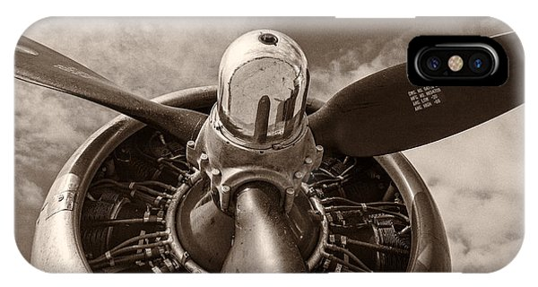 Airplane iPhone Case - Vintage B-17 by Adam Romanowicz
