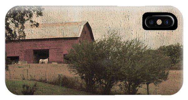 Vintage Barn Scene IPhone Case
