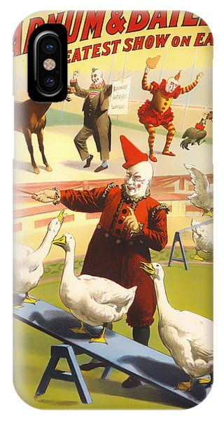 Barnum And Bailey iPhone Case - Vintage Barnum And Bailey Poster - 1900 by Mountain Dreams