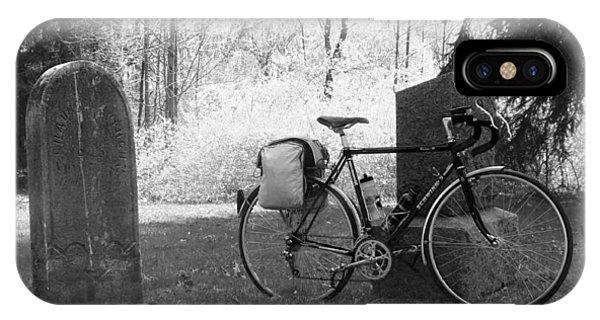 Vintage Bicycle In Graveyard IPhone Case