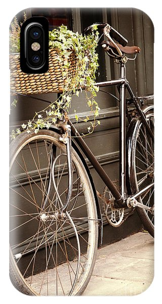 Bicycle iPhone X Case - Vintage Bicycle by Jane Rix