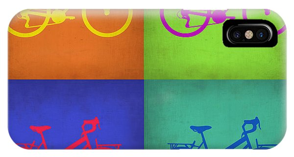 Cycling iPhone Case - Vintage Bicycle Pop Art 1 by Naxart Studio