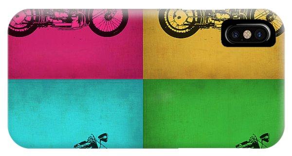 Biker iPhone Case - Vintage Bike Pop Art 1 by Naxart Studio